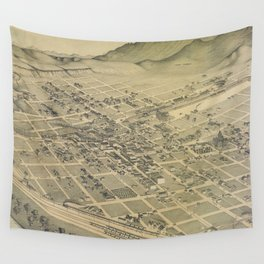 Vintage Pictorial Map of El Paso Texas (1886) Wall Tapestry