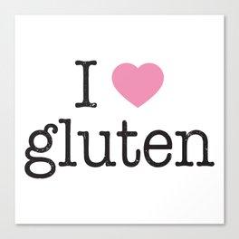 I Heart Gluten Canvas Print
