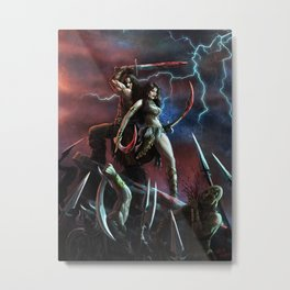 Barbarian and the Bellydancer Metal Print