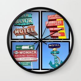 Vintage Signs Composite Series of 4 Wall Clock