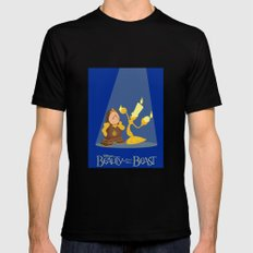 Beauty and the Beast MEDIUM Black Mens Fitted Tee