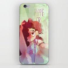 Hippy girl iPhone & iPod Skin