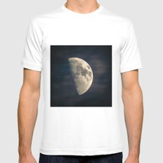 half moon Mens Fitted Tee White MEDIUM