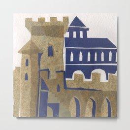 Medieval town Metal Print