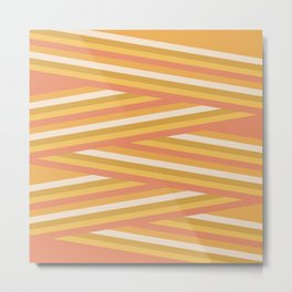 stripey sunny square Metal Print