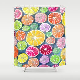 Citrus Painting Shower Curtain