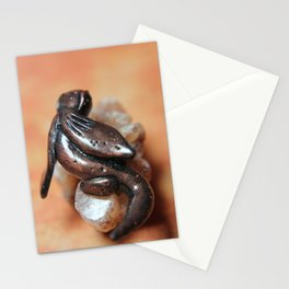 Bronze Dragon on Smokey Quartz Crystal Cluster Stationery Cards