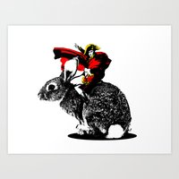 napoleon Art Prints featuring Napoleon by Inept