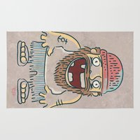 toothless Area & Throw Rugs featuring Toothless sailor illustration by Iknu Art and design