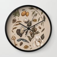 georgia Wall Clocks featuring Georgia Nature Walks by Jessica Roux