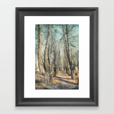 Memory lane Framed Art Print