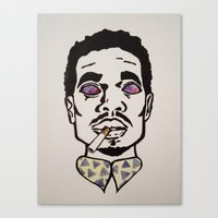 chance the rapper Canvas Prints featuring Chance the Rapper by Sara Wong