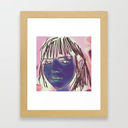 Digital Beauty Framed Art Print