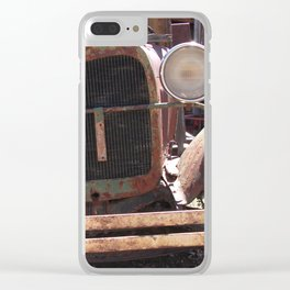 Truck Grill, Old Truck Grill, Vintage, Antique Truck Clear iPhone Case