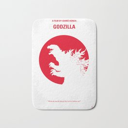 No029-2 My Godzilla 1954 minimal movie poster Bath Mat