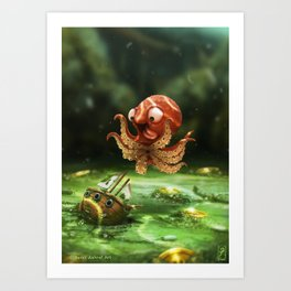 The Kraken! Art Print