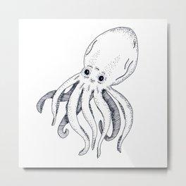 An Octopus Metal Print