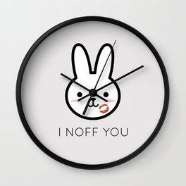 I Noff You Wall Clock