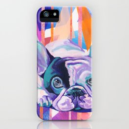 Frenchie Puppy iPhone Case