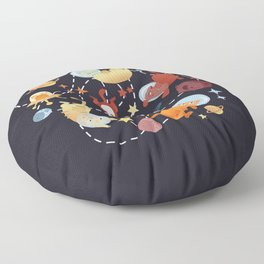 Catstronauts - retro catastronaut pattern Floor Pillow