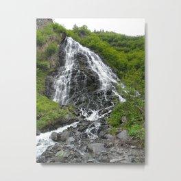 Alaska Waterfall Metal Print
