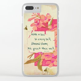 Flowers & Bees II Clear iPhone Case