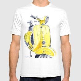 Yellow Vespa 50s T-shirt