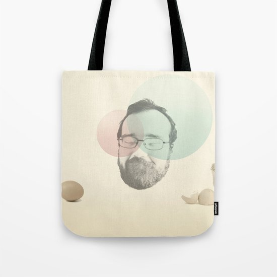 chicken and the egg Tote Bag
