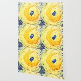 Tardis Flying With Circle Wallpaper