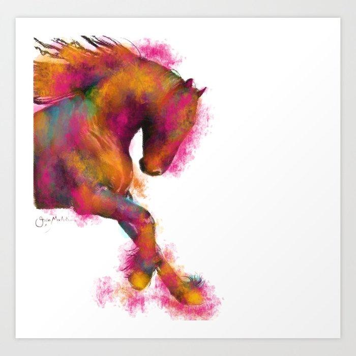 Friesian Horse Print Animal Print Cool Majestik Horse Art Art Print By Shirleymac Society6