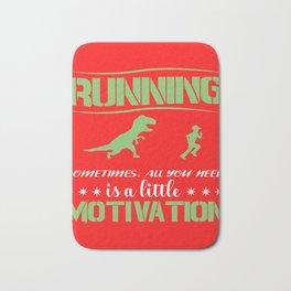 Race Motivation Dinosaur Lusitg Gift Bath Mat