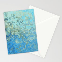Gold-Laced Cascade Stationery Cards