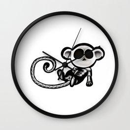 Skeleton monkey Wall Clock