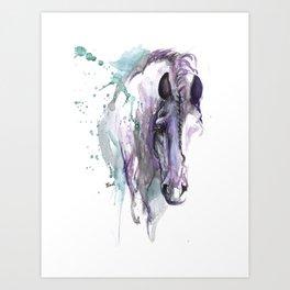horse with braided mane Art Print