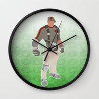 borderlands Wall Clocks featuring Borderlands 2 - Roland by LightningJinx