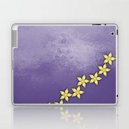 Gold flowers on ultraviolet texture Laptop & iPad Skin