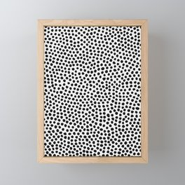 Dots Pattern Framed Mini Art Print