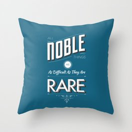 All Noble Things Throw Pillow