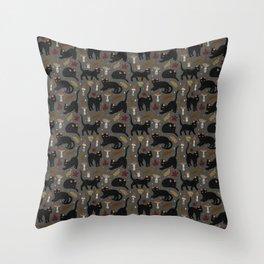 autumn cat magic Throw Pillow