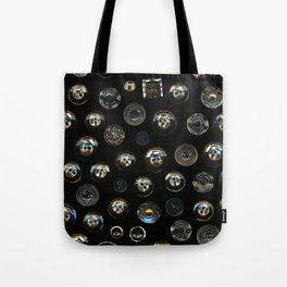 Transparent Buttons Scanograph Tote Bag