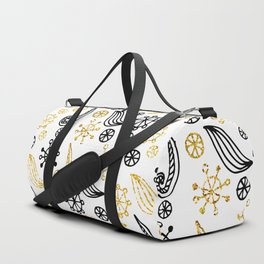 Golden Decorated Christmas Pattern 1 Duffle Bag