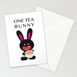 One Tooth Rabbit with Tea Stationery Cards