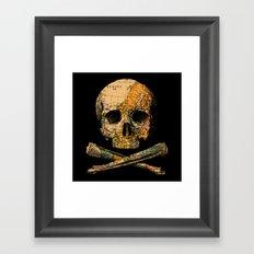 Treasure Map Skull Wanderlust Europe Framed Art Print