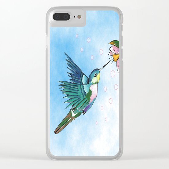 Hummingbird Flutter Clear iPhone Case
