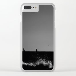 Sailboats from the seashore Clear iPhone Case