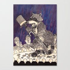 Dapper Raccoon Canvas Print