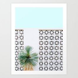 Palm Springs Breeze Block II Art Print