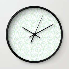 Swirls of Blue and Green Wall Clock
