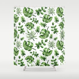 Falling Verde Shower Curtain