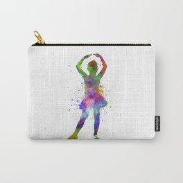 Little girl ballerina ballet dancer dancing Carry-All Pouch